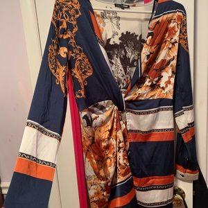 Fashion nova satin dress NEVER WORN